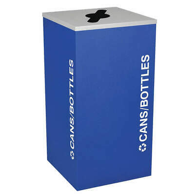 TOUGH GUY Steel, Plastic Recycling Container,Blue,24 gal., 5UJC6, Blue