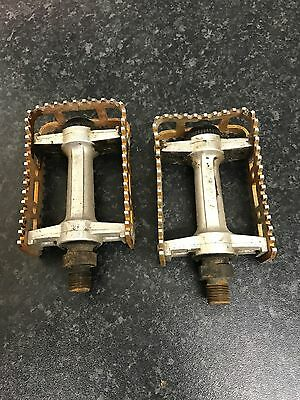 TOTALLY ORIGINAL1980,s SUGINO MKS BM-10 GOLD BMX PEDALS RALEIGH BURNER OLD BMX