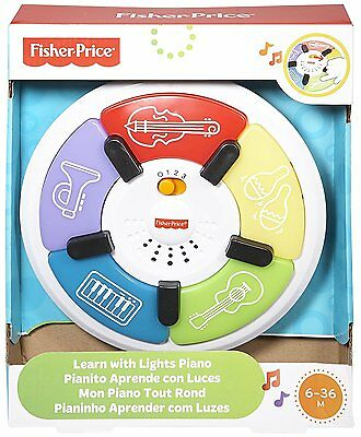 Fisher Price Baby Piano Toy Learn with Lights & Music