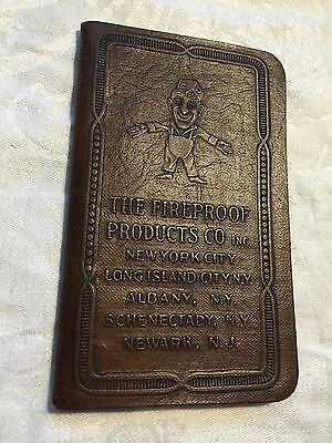 The Fireproof Products Co NYC 1920's Robinson Reminder Notebook Advertising