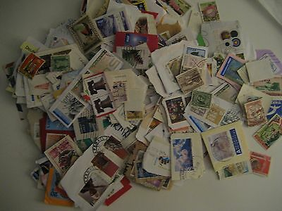 100 grams world kiloware on and off paper no GB FREE Postage