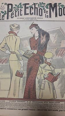 N°9 / Vintage 1935  Paris Fashion & Sewing Pattern Le Petit Echo Mode Art Deco