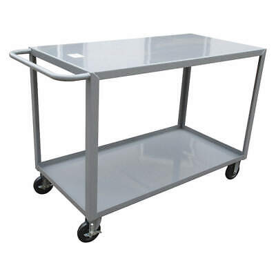 GRAINGER APPROVED Utility Cart,Steel,54 Lx24 W,1200 lb., 8AE96, Gray