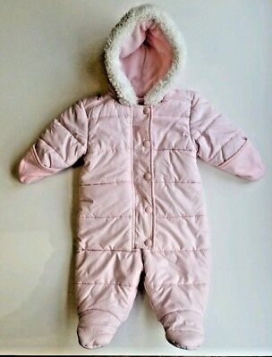 3c503cf7c OLD NAVY BABY Girl Pink Puffer Snowsuit Bunting - Size 3-6 Months ...