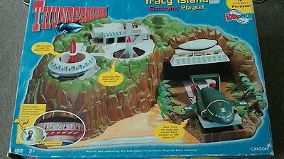 Thunderbirds Tracy Island play set with sound effects & vehicles,, boxed.