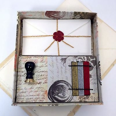 Calligraphy Kit-1Ceramic seal,3 sealing wax strips and 5 envelopes in a gift box