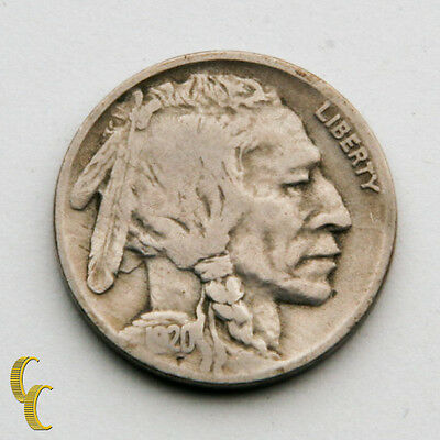 1920-D Buffalo Five Cent Nickel 5c (Fine, F Condition) Natural Color!