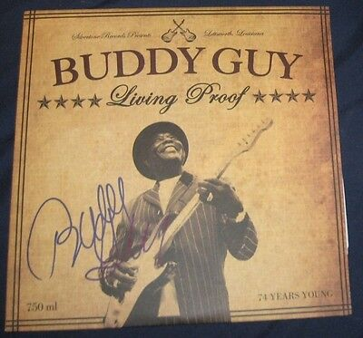 Buddy Guy Blues Guitarist Legend Signed Autographed Living Proof Album Coa 2010