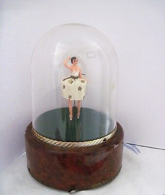 Vintage Swiss Made Music Box w/ Ballerina That Moves and Dances*
