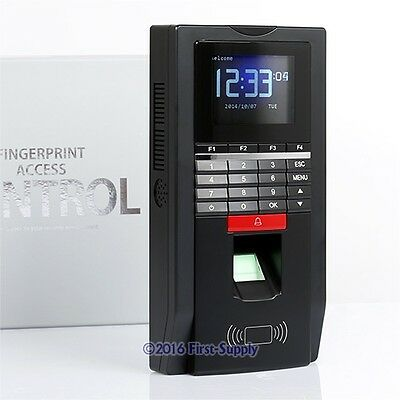 Color Screen Fingerprint Access Control System With RFID Card Reader +TCP/IP+USB