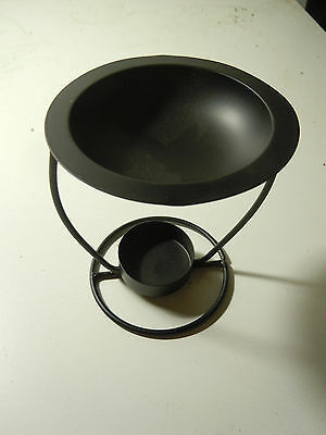 BLACK METAL IRON oil / resin incense burner occult magic witchcraft brazier
