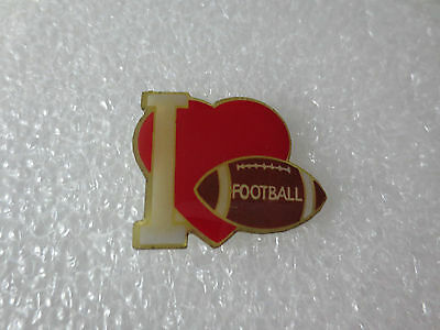 I Love American Football NFL Metal Pin Badge, America National Football League