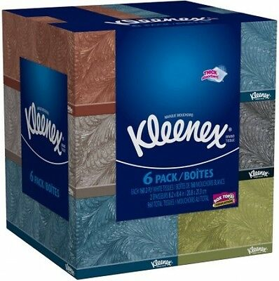 Kleenex Everyday Facial Tissues 160 Tissues Per Flat Box Pack Of 6 Toilet Papers