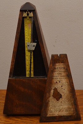 Antique MAËLZEL Paris France  Seth Thomas Made in U.S. METRONOME  WORKS WELL!!!!