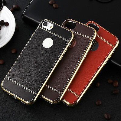 Luxury Leather Pattern Shockproof Soft TPU Case Cover For iPhone 7 7 Plus 5 6 6s