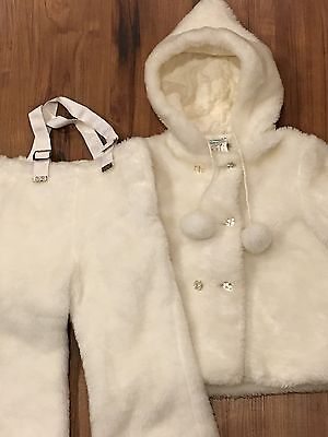 ADORABLE Faux Fur GIRLS Child SNOWSUIT ~ Coat & Leggings ~ COMFY by HEITNER MFG.