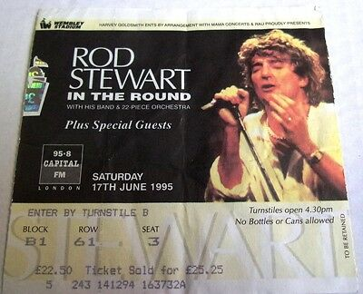Rod Stewart In The Round Tour 1995 Wembley Ticket