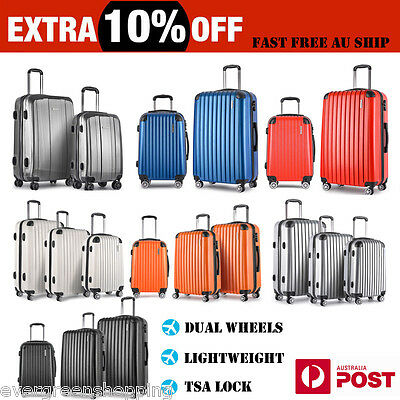 Luggage Suitcase Set 4 Spinner Wheels Lightweight Trolley Travel Bag Hard Case