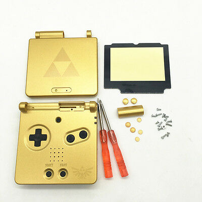 E Replacement Housing Shell Case+Screen Cover+Tool for Gameboy Advance SP GBA SP