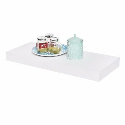 Welland 24-Inch Mission Floating Wall Shelf - Off White / Decor Photo Plants