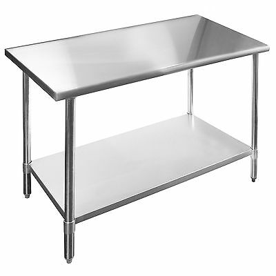 Commercial Stainless Steel Kitchen Prep Work Table - 14 x 72 x 30