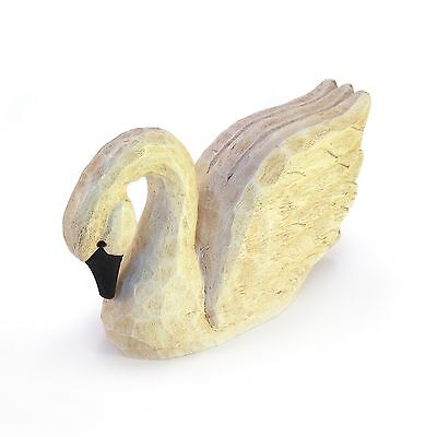 Handmade Wooden Swan Sculpture signed by James Haddon **New**