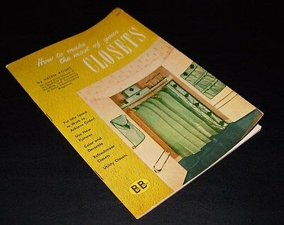 1944 How to Make the Most of Your Closets by Helen Koues First Edition VG+