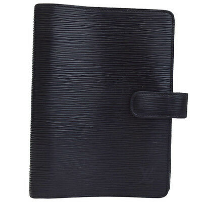 Auth LOUIS VUITTON Agenda MM Cover Day Planner Epi Leather R20042 04Z861