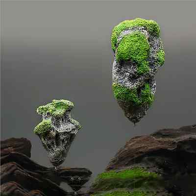 Floating Rocks Suspended Stone Aquarium Fish Tank Underwater Decor Landscaping