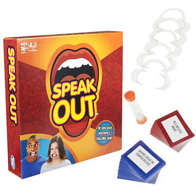AU Stock Speak Out Funny Mouthguard Challenge Party Board Game Xmas Gift Toy