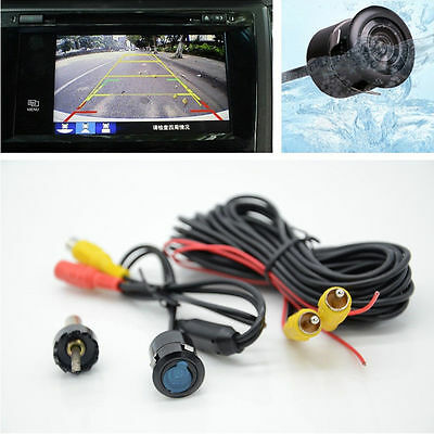 Car Auto Night Vision Waterproof Rearview Reverse Backup Wide Angle Camera Drill