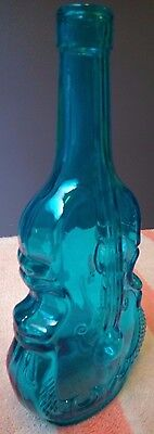 Vintage glass VIOLIN Light Blue Cello antique bottle vase music