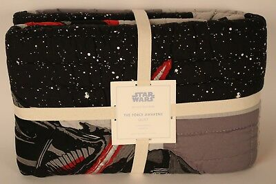NWT Pottery Barn Kids Star Wars The Force Awakens twin quilt