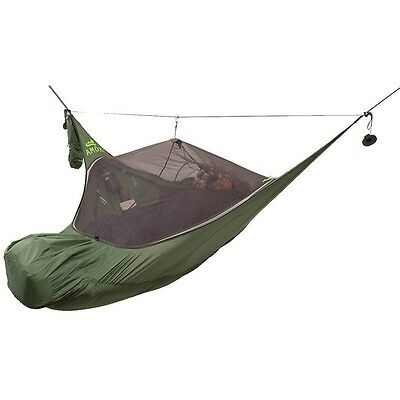 Amok Draumr 3.0 - green (with tarp, bug net and suspension)  |  Military Hammock