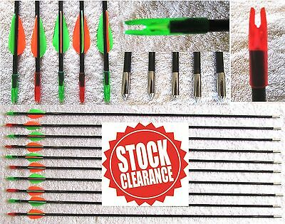 "Archery Arrows £1 EACH CLEARANCE SALE 31"" 787mm Target Recurve Compound Bow NEW"