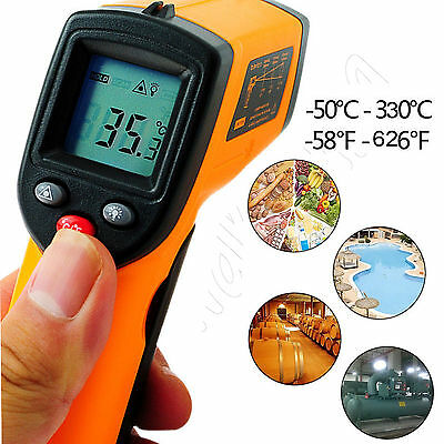 Handheld Digital Thermometer LCD Temperature IR Laser Infrared BBQ Industry EW