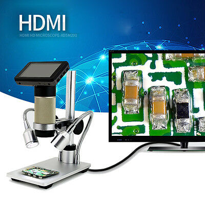 1080P HDMI HD Microscope Magnifier with 3.0-inch LCD Screen for PCB Repair Tool