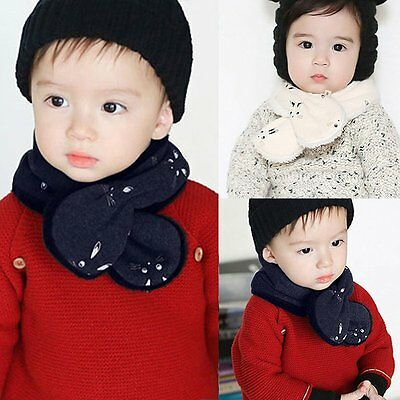 Winter Warm Kids Boys Girls Collar Baby Scarf Cute Rabbit O Ring Neck Scarves