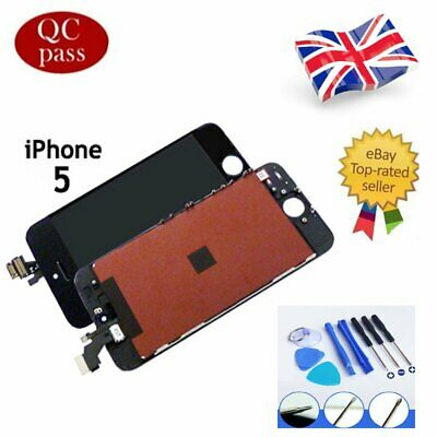 For iPhone 5 Black LCD Touch Screen & Digitizer Display Assembly Replacement UK