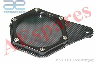 MOTORCYCLE BLACK COLOUR CARBON TAX DISC TOKEN HOLDER MOTORBIKES @AEs