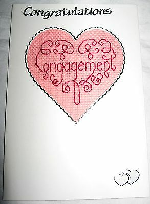 Engagement Completed Cross Stitch