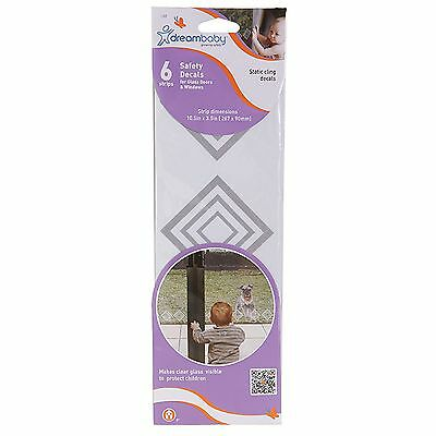 2x Dreambaby SAFETY DECALS 6 Strips Prevents Dangerous Accidents GREY*Aust Brand