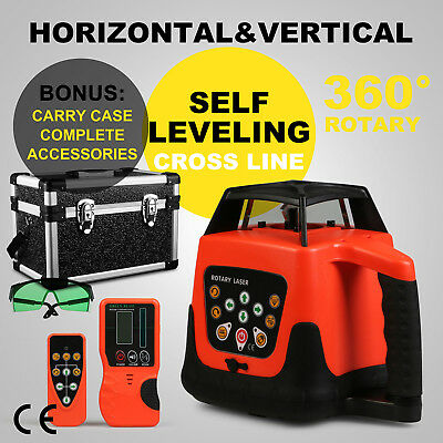 Automatic Green Rotary Laser Level Self-Leveling W/case Rotating 2Kg Great
