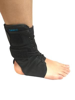 Solace Bracing Black Cycling Open Back Splint Lace Up Ankle Support Brace