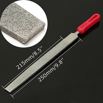 10''Metal Flat Diamond Coating File 120 Grit for Jewelers Tool Steel Stone Glass