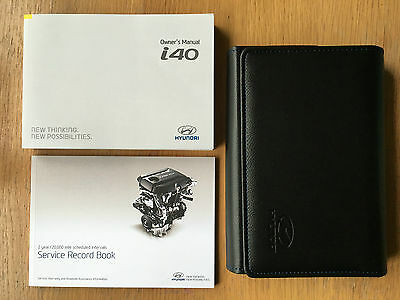 HYUNDAI i40 OWNERS MANUAL HANDBOOK PACK WITH WALLET +SERVICE 2015-2016 REF3587