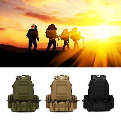 New Outdoor Tactical Military Backpack Rucksack Trekking Hiking Camping Bag 40L