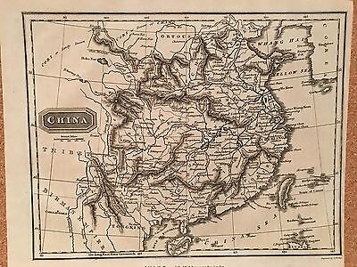 1814 China By Alexander Findlay Original Antique Map 202 Years Old