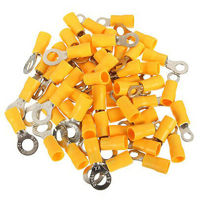 100pcs RV5.5-5 12-10 AWG Ring Insulated Wire Connector Electrical Crimp Terminal