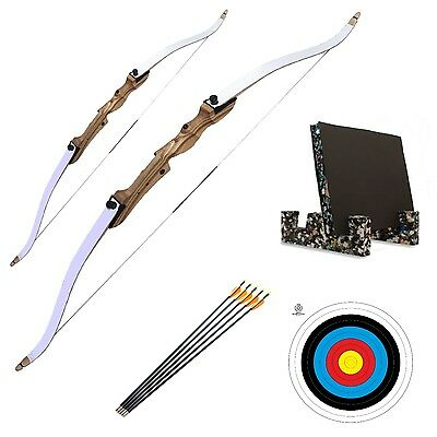 Complete Family Archery Set Adult & Kids Recurve Bows Package, Arrows, Target